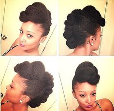That moment when you want you hair to last before wash day and you create the best updo ever. Check out our gallery of updo styles Natural Hair Updo, Natural Hair Care, Natural Hair Styles, Natural Beauty, Updo Styles, Curly Hair Styles, Afro, Be Natural, Natural Girls