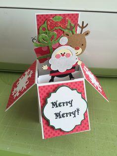 Simply Charmed and Create a Critter Christmas Cricut box card