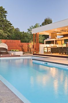 Aloha Pools Pty Ltd designed this formal pool in Frankston South, Victoria, Australia. What had previously been a non-functional and unattractive addendum to a newly renovated house has been entirely transformed.