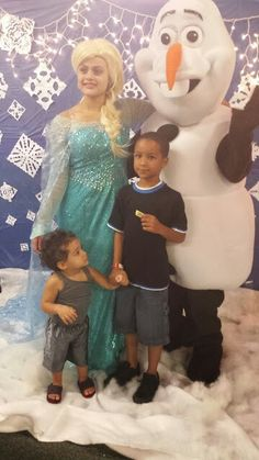 Elsa and Olaf visit Millennium