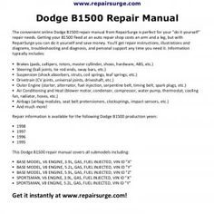 Keep your vehicle in good shape with the help of car repair manuals the online dodge repair manual is quick and easy to use get the repair info you need to fix solutioingenieria Images