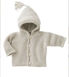 Hooded vest baby woman of the present day mag Baby Hoodie, Cute Hoodie, Baby Outfits, Knitting For Kids, Baby Knitting, Crochet Baby, Cardigan Bebe, Baby Cardigan, Knitted Baby Clothes