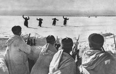 German soldiers surrendering near Moscow 1942
