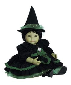 Look what I found on #zulily! Green Ruffle Wicked Witch 20'' Doll #zulilyfinds
