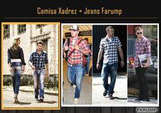 Jeans Farump + Camisa Xadrez: Não tem como errar!