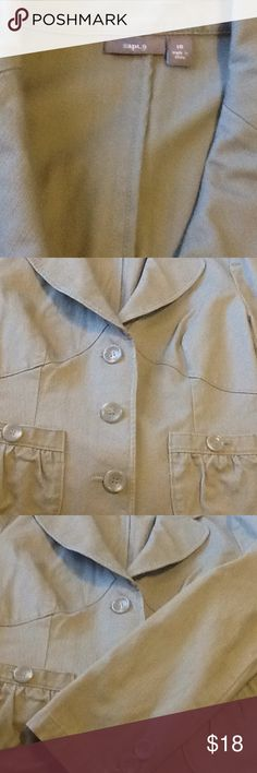 Blazer 100%  cotton blazer taupe color Apt. 9 Jackets & Coats Blazers