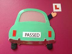 "5 DIECUT ""PASSED"" DRIVING TEST CAR CARD MAKING SCRAPBOOKING CRAFT EMBELLISHMENTS"