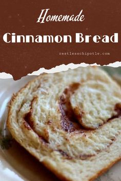 Sweet, tender cinnamon bread with a gooey swirl and buttery vanilla glaze is just right for breakfast or as a snack anytime. Full of old fashioned goodness. Best Homemade Bread Recipe, Sweet Roll Recipe, Cinnamon Swirl Bread, Yeast Bread Recipes, Vanilla Glaze, Dinner Rolls Recipe, How To Make Bread, Bread Baking, Holiday Recipes