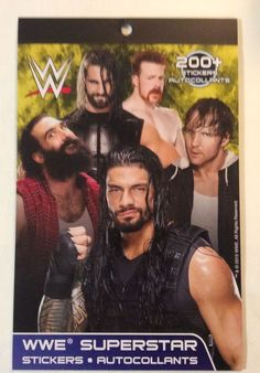 WWE Superstar: 200 + stickers, 4 sheets, Roman, Dean Ambrose  NEW #FOREVERCLEVER