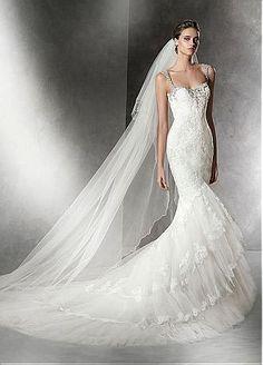 Buy discount Elegant Tulle Sweetheart Neckline Mermaid Wedding Dress with Beadings & Rhinestones at Dressilyme.com