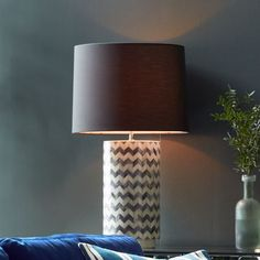 Chevron Table Lamp from west elm
