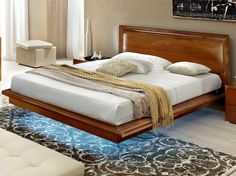 Camelgroup Sky 8 Bed - Finished in beautiful high gloss wood grain lacquer with eco-leather accents these items will provide all of your bedroom furniture needs. Straight panels are in chipboard, then veneered.