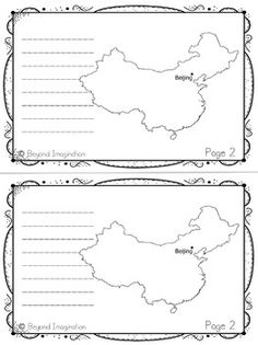 China Country Study | 48 Pages for Differentiated Learning + Bonus Pages #China #country #study #teacherspayteachers #social #studies #passport #postcards