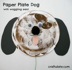 Paper Plate Dog for kids! Simple animal craft for preschool