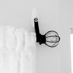 Leather Curtain Rod Holder Strap for Renters  The answer to no holes in the wall!  by LoveThatLeather