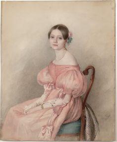 Portrait of Lotte Krafft (1834) by Marie Krafft