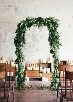 Go for natural beauty and dress your ceremony altar with lush greenery for a wonderfully rustic feel. Check out these 10 Simple Yet Stunning Ways To Use Greenery In Your Wedding: