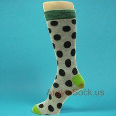 Men/'s Groomsmen Wedding  Navy Blue dress socks with White polka dots -MA110
