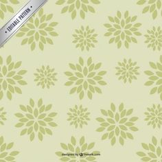 Floral editable free vector pattern