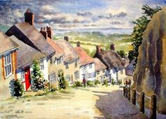 Gold Hill on a sunny day, Gold Hill, Shaftsbury, Dorset, UK, Anita Trappitt, SAA Professional Members' Galleries
