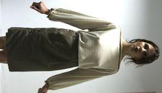 asymmetric  wool skirt