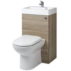 £330 Linton Oak Combination Toilet & Basin Unit - Image 1