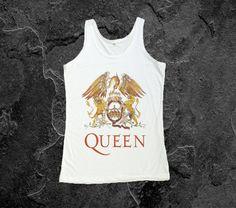 Freddie Mercury Shirt Queen Rock Band Tank Top Women by RockerTee, $13.99