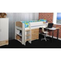 <p><span>The Urban Midsleeper offers a stylish and modern space saving bed with a shaped fixed desk, 3 drawer chest and low 1 shelf bookcase, that provide ample storage space and a great place to study at.</span></p> <p><span>Designed with saftey in mind, this midsleeper features a wide-step ladder, with integrated hand holes, to make climbing up into bed easy and safe. The ladder can be assembled on the left or right hand side to suit your bedroom layout.</span></p> <p><span>Const