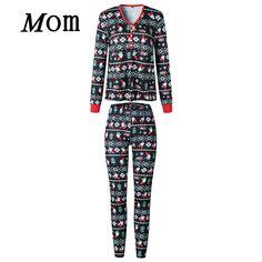 UK Family Matching Men Women Kids Christmas Pyjamas Nightwear Sleepwear PJs  Sets Men Women fb561230b