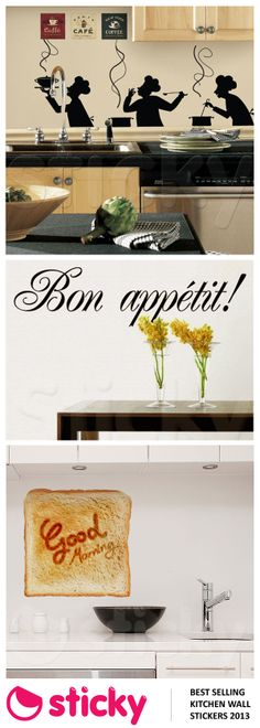 STICKY - Our most popular KITCHEN wall stickers for 2013 based on sales!