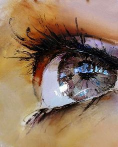 Impressionistic Iris Illustrations - Pavel Guzenko Renders Alluring Eyes in a Classic Painting Style (GALLERY)...lovely