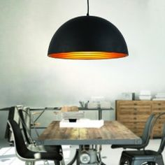 AZzardo Modena 50 Black/Gold - Závěsná svítidla
