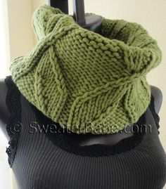 PDF Knitting Pattern for Chunky Pinwheel Cowl from SweaterBabe.com $4