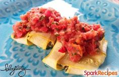 Turkey and Squash Ravioli with Raw Marinara (Gluten-Free, Flourless) Recipe by BLOGILATES - 177.4 Calories - Gluten Free