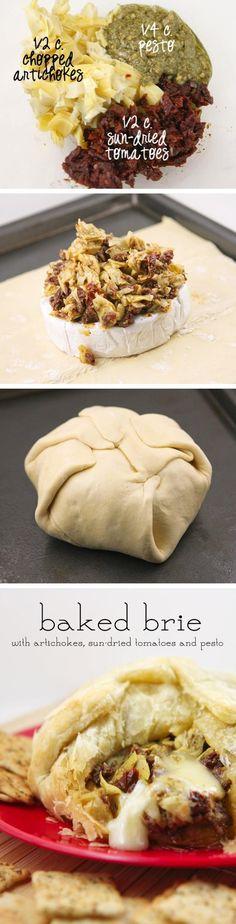 Pesto Baked Brie