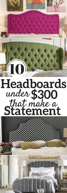 10 Headboards Under $300 I decided to give our house a makeover starting with the master bedroom! A master bathroom renovation is underway with am oversized shower and I am …