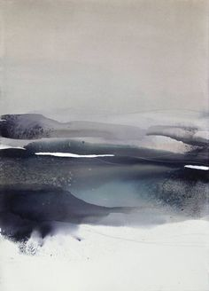 "Remaining in Silence..."" / Abstract Watercolor Painting by Sabrina ..."