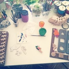Pintando marcianitos