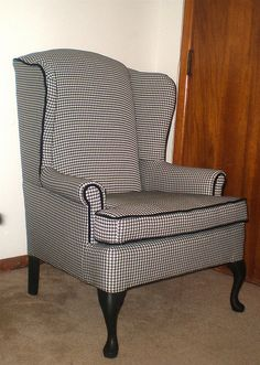 Houndstooth Wingback Chair by art_and_deco, via Flickr