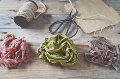 Pasta fresca: remolacha, espinaca y cacao