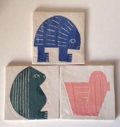 Ceramic tiles by Emma Crockatt.