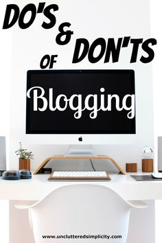 Do's and Don'ts of Blogging-Advice for Newbie Bloggers. Great advice here to help you avoid many of the common mistakes made by newbie bloggers. Tips for monetizing your site, increase page views, image use and more. I'm going to pin this for later so I can fix some of the mistakes I've made on my blog.