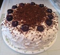 Authentic Black Forest Cake (Schwarzwald Kirsch Kuchen)  Finally found a not to sweet recipe. This is the cake I want on my birthday.