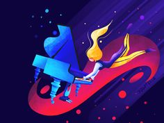 The Pianist designed by Yogatella. Connect with them on Dribbble; the global community for designers and creative professionals. Disney Characters, Fictional Characters, Creative, Poster, Illustrations, Inspiration, Design, Art, Biblical Inspiration