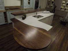 Why have curves in your kitchens? Here's six reasons why curves in kitchens are such a good idea particularly if you are looking for inspiration for your dream kitchen. Dream Kitchens, Natural Wood, Curves, Articles, Inspiration, Home, Kitchen Furniture, Biblical Inspiration, Ad Home