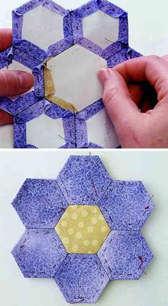 English Paper Piecing                              A perfect way to quilt-on-the go, you'll love the ease of hand stitching with paper templates.