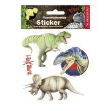 Fluoreszierende Dinosaurier Sticker