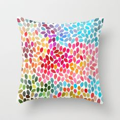 Rain 6 Throw Pillow by Garima Dhawan - $20.00
