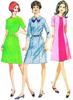 1960s Dress Pattern McCalls 9311 Mod A Line Dress by paneenjerez, $10.00