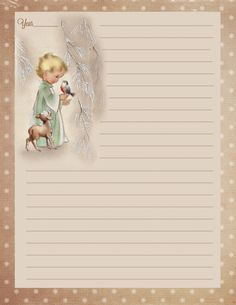 Several years ago I started making a Christmas Scrapbook. Each year I add the Christmas letters and photo cards from family members. Christmas Journal, Christmas Scrapbook, Christmas Past, Vintage Christmas, Christmas Letters, Xmas, Printable Lined Paper, Printable Labels, Christmas Stationery